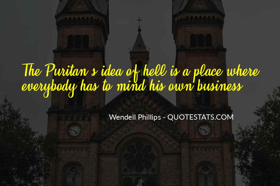 Quotes About Own Business #299746