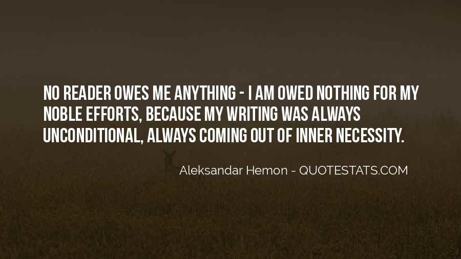 Quotes About Owed #216293