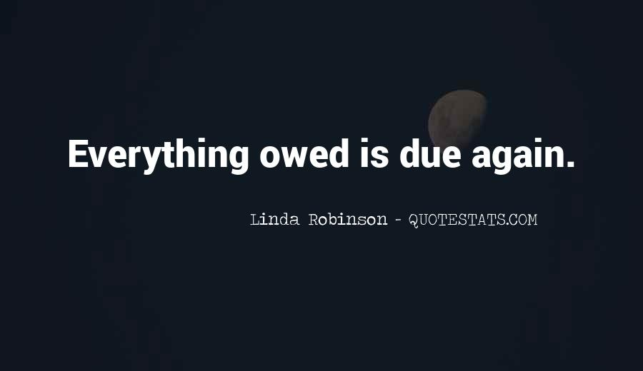 Quotes About Owed #390869