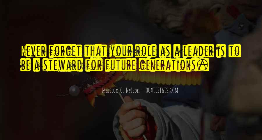 Quotes About Future Generations #130197