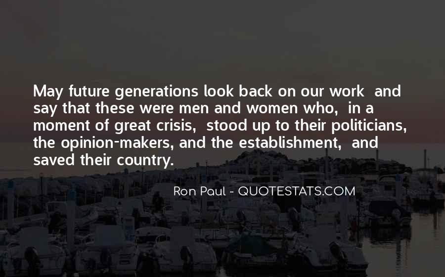 Quotes About Future Generations #96692