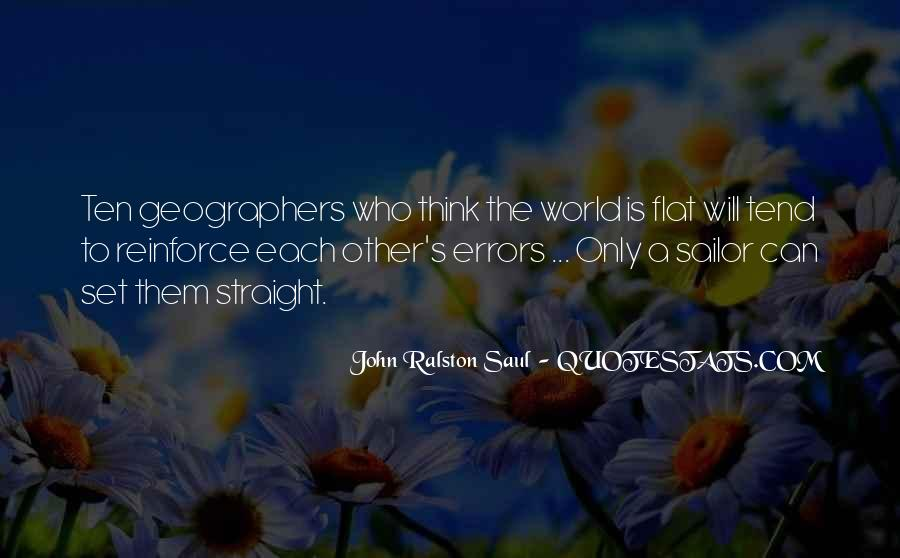 Quotes About Flat World #1472514