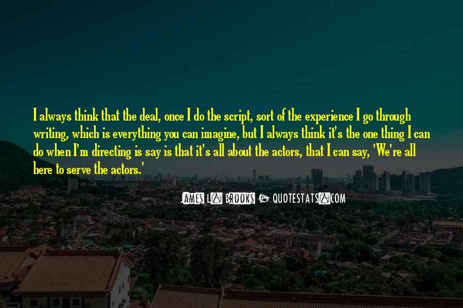 Quotes About Script Writing #1000658