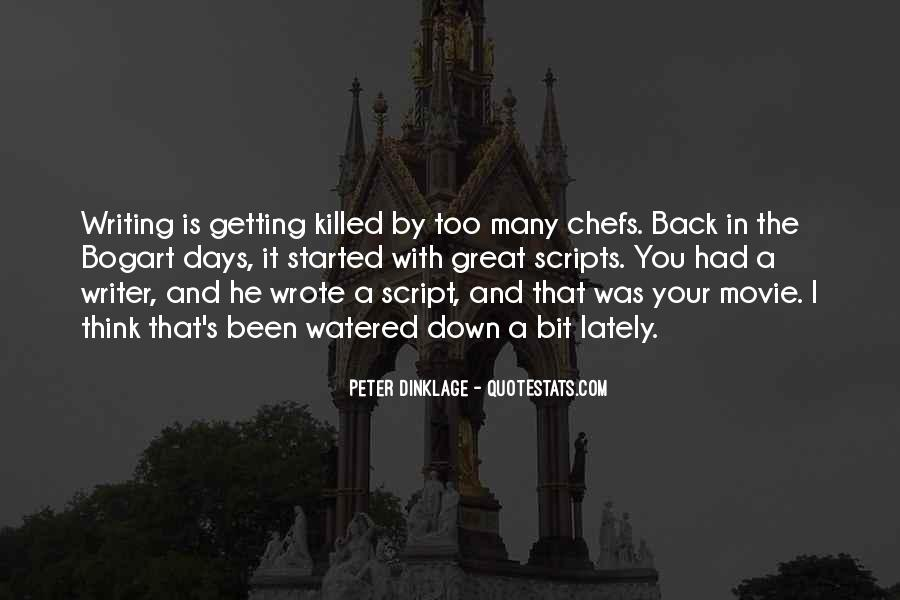 Quotes About Script Writing #1081069