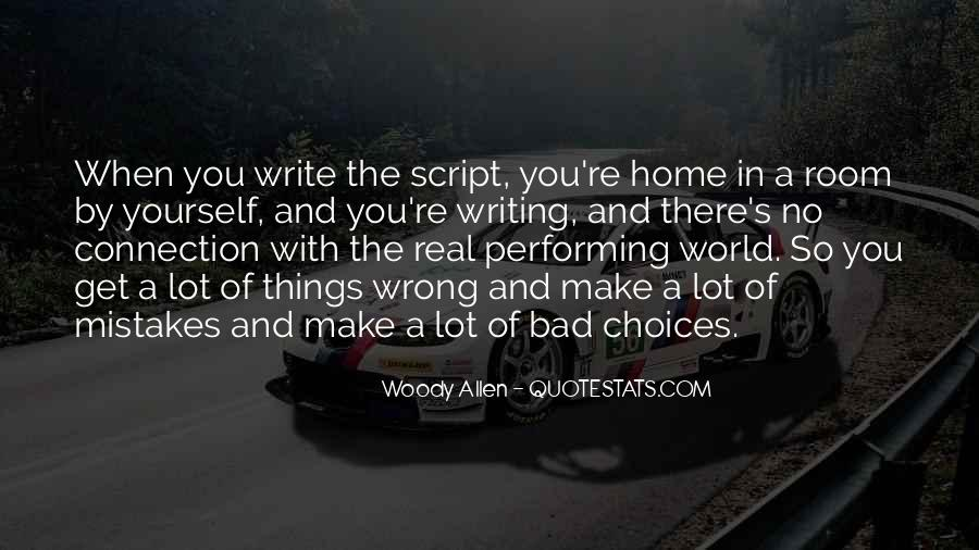 Quotes About Script Writing #1164991