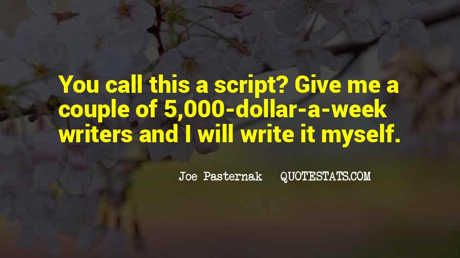 Quotes About Script Writing #1176564