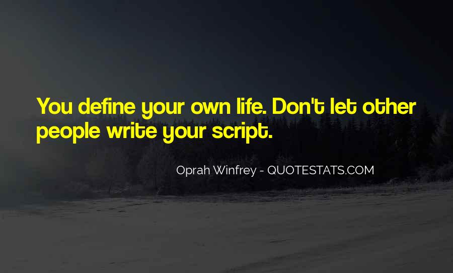 Quotes About Script Writing #1216256