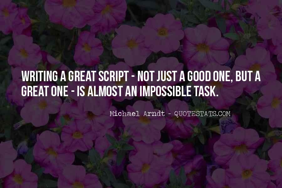 Quotes About Script Writing #1263767