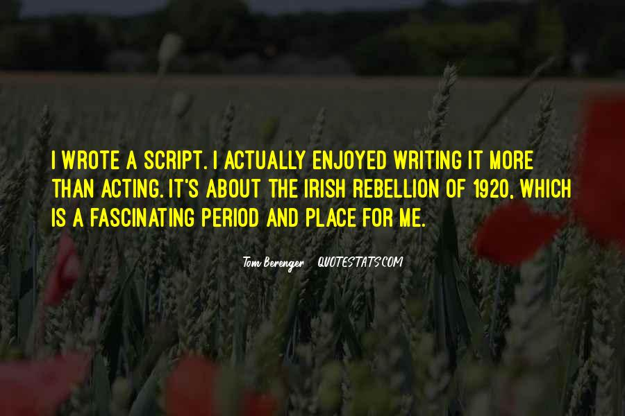 Quotes About Script Writing #1323282