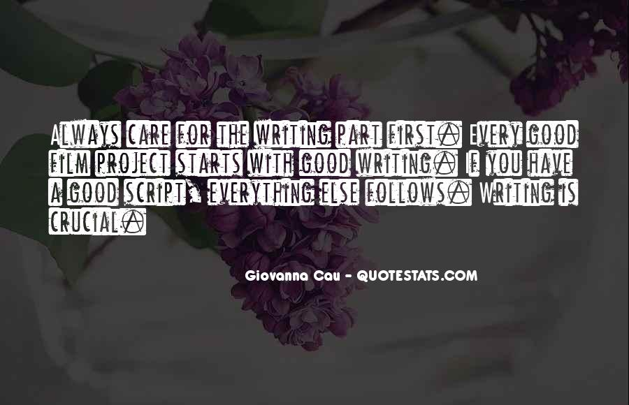 Quotes About Script Writing #186583