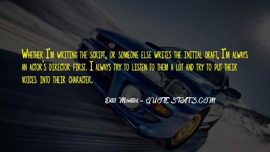 Quotes About Script Writing #270858