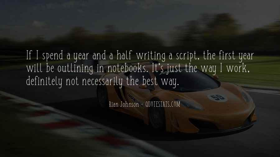 Quotes About Script Writing #284063