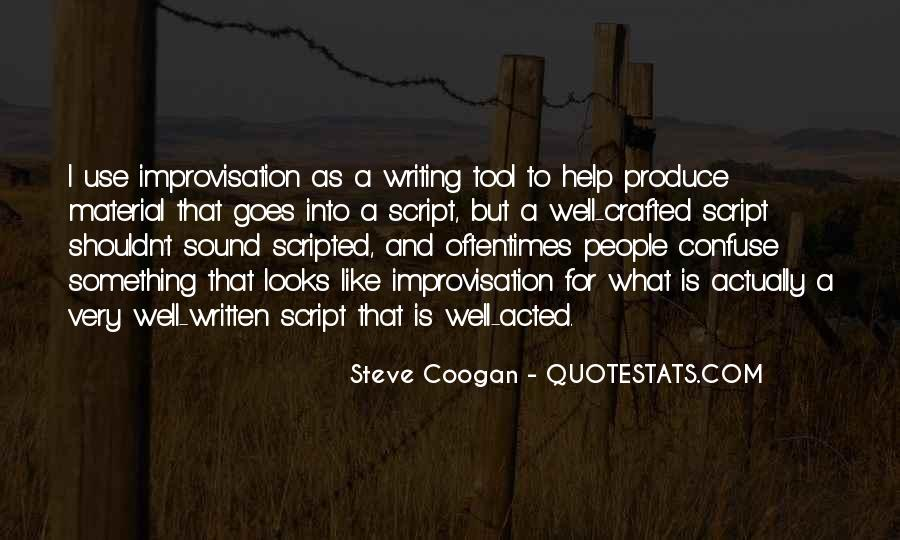 Quotes About Script Writing #31459