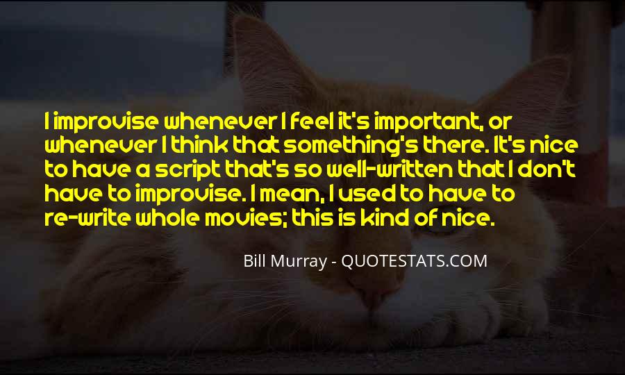 Quotes About Script Writing #377318