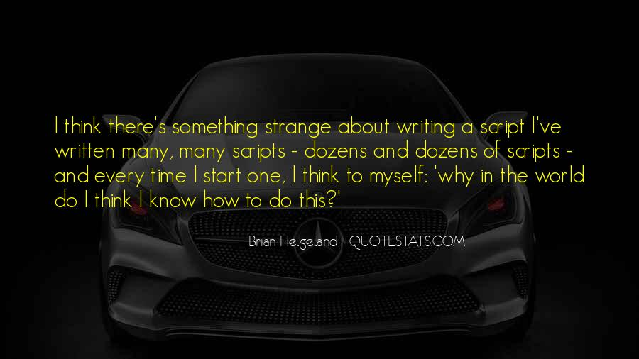 Quotes About Script Writing #379278