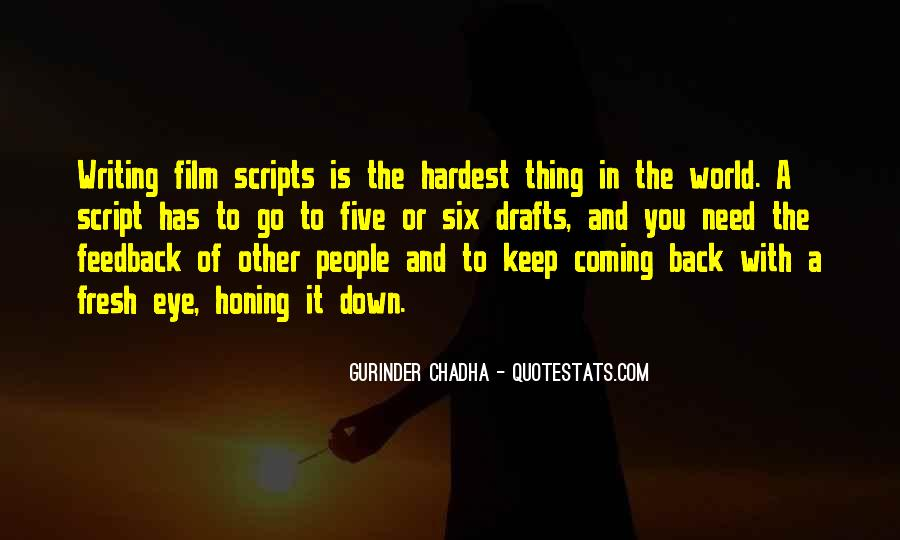 Quotes About Script Writing #513888