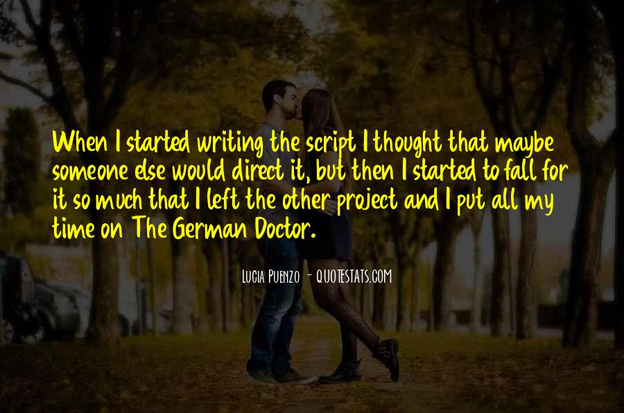 Quotes About Script Writing #612592