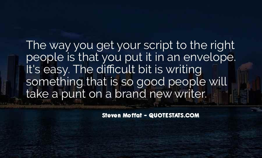 Quotes About Script Writing #625717