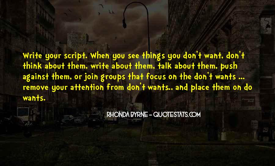 Quotes About Script Writing #700000
