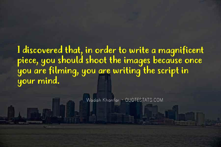 Quotes About Script Writing #738766