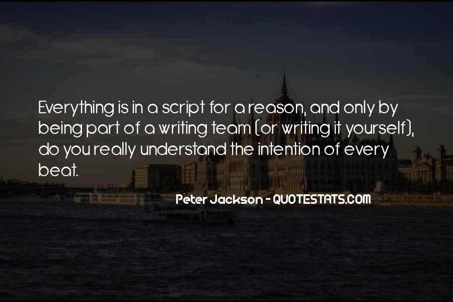 Quotes About Script Writing #73959