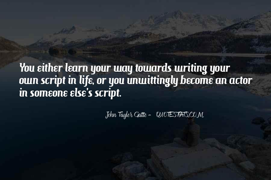 Quotes About Script Writing #774135