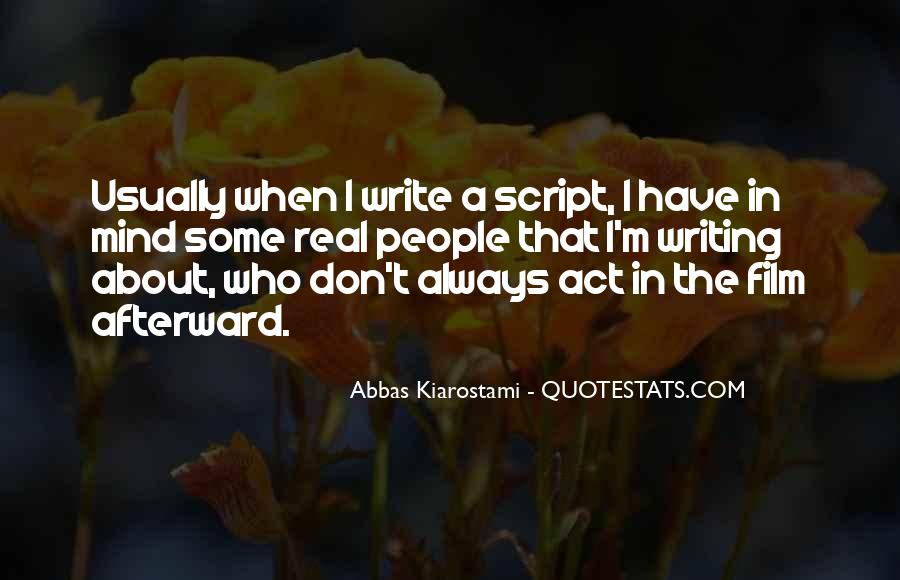 Quotes About Script Writing #865041