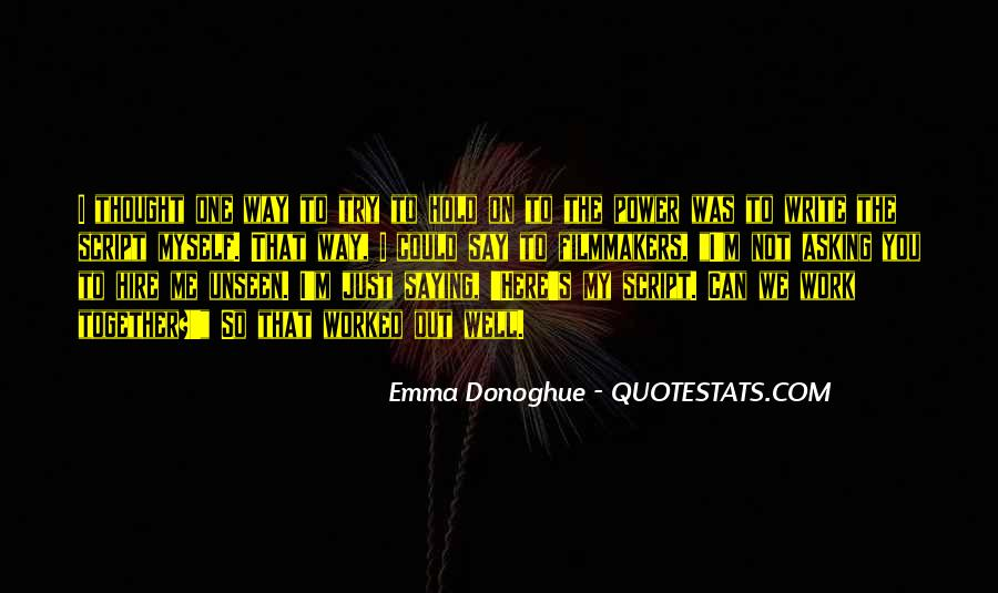 Quotes About Script Writing #885492