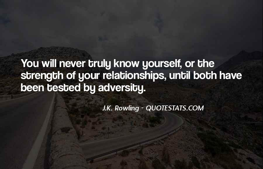 Quotes About Adversity In Relationships #1120219