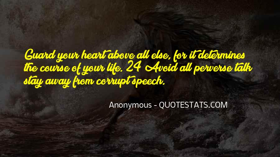 Quotes About Corrupt Heart #576137