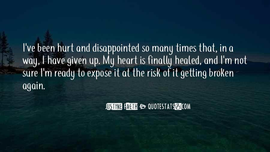 Quotes About Getting Hurt Again #196750