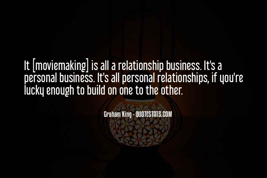 Quotes About Personal Business #119381