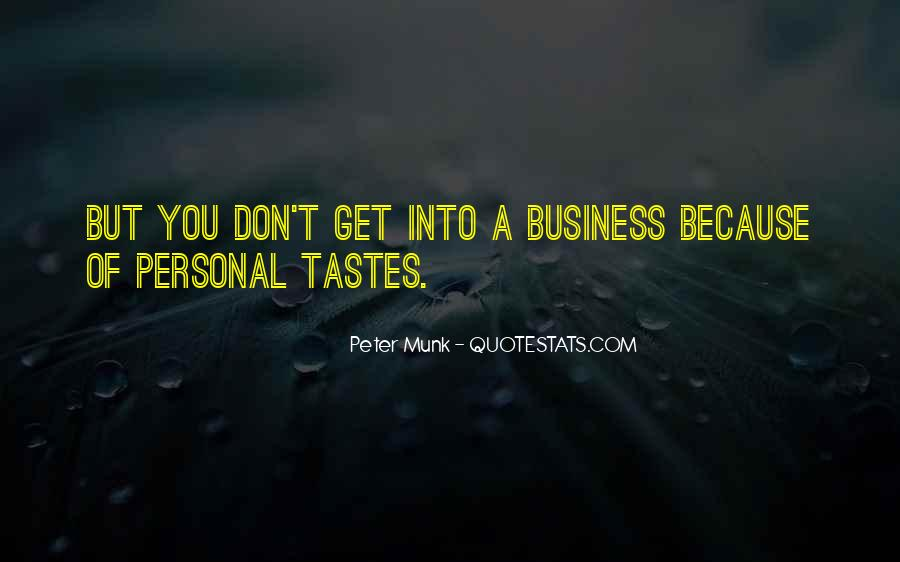 Quotes About Personal Business #335886