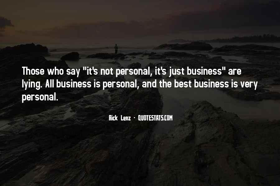 Quotes About Personal Business #344783