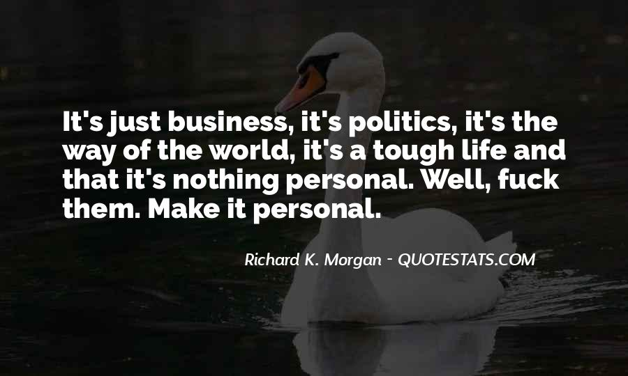 Quotes About Personal Business #381037