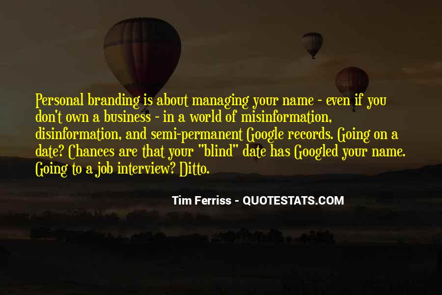 Quotes About Personal Business #592440