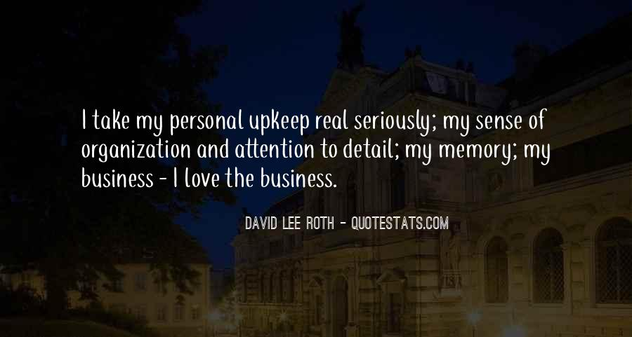 Quotes About Personal Business #627129