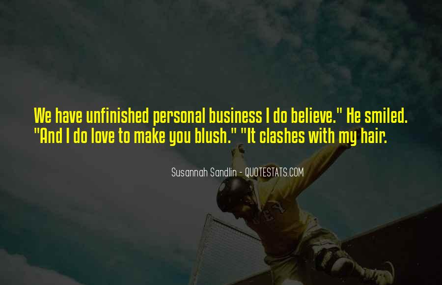 Quotes About Personal Business #642228