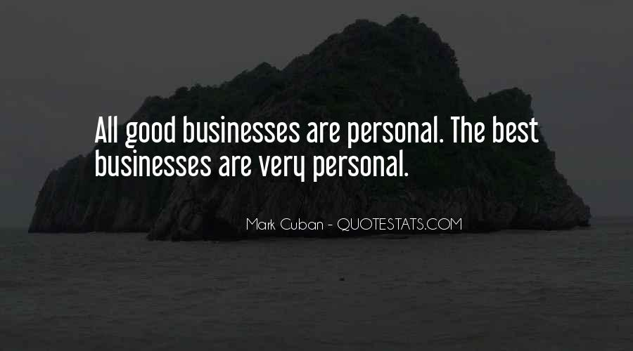 Quotes About Personal Business #646505