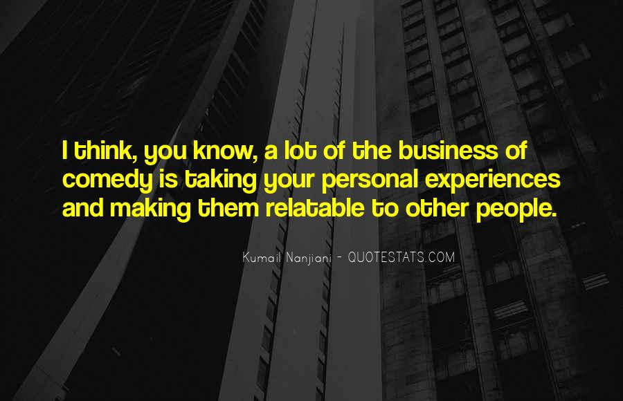 Quotes About Personal Business #69132