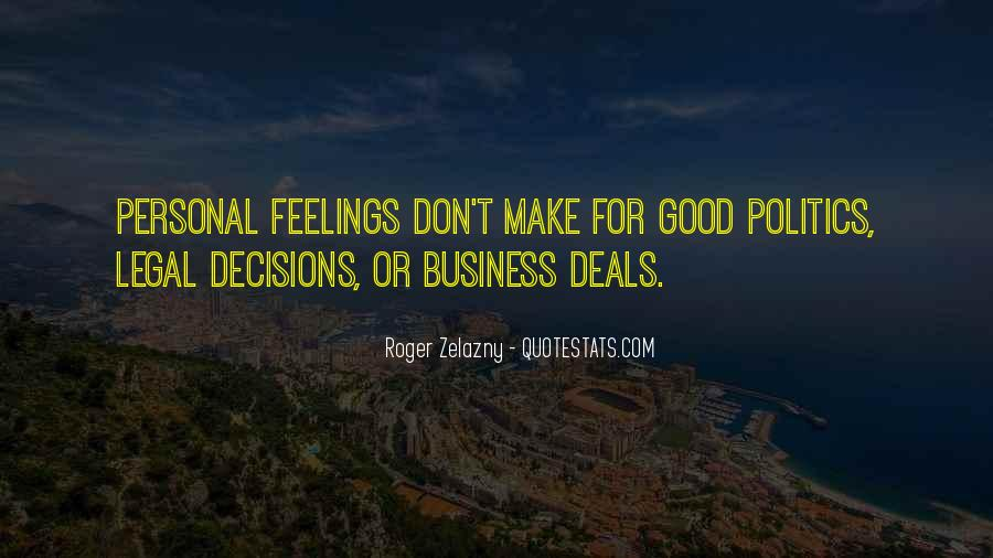 Quotes About Personal Business #725516