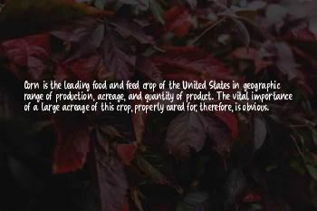 Quotes About Crop Production