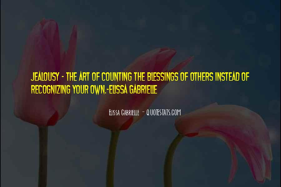 Quotes About Recognizing Your Blessings #1476598