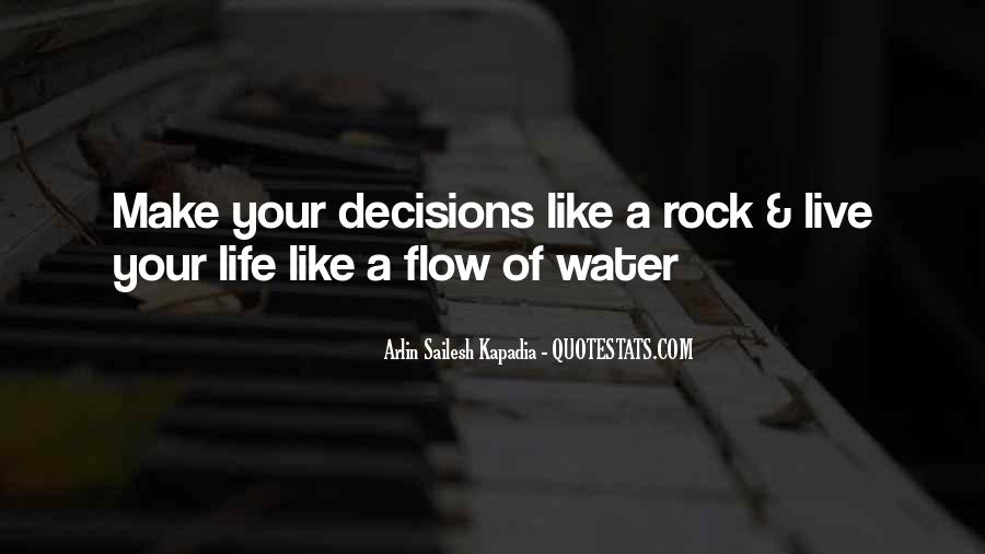 Quotes About Life Like Water #175697