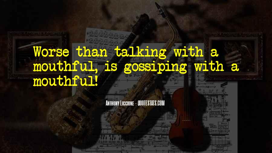 Quotes About Gossip And Rumors #1360417