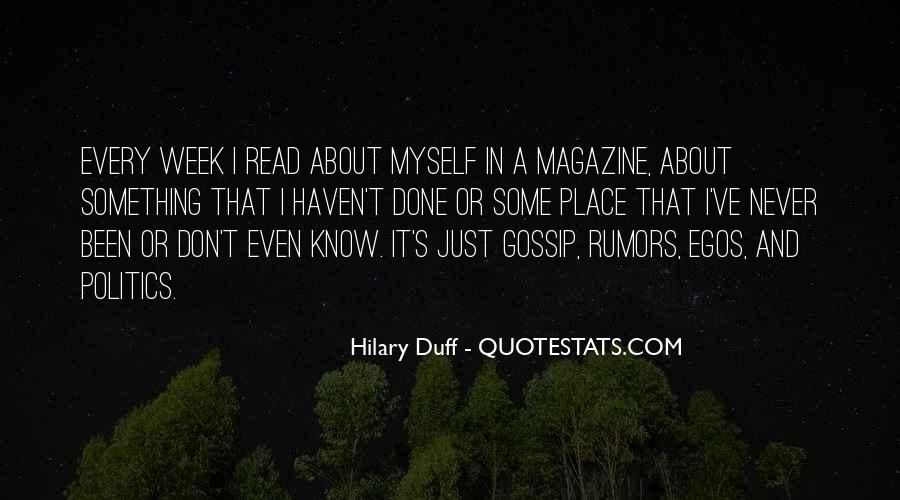 Quotes About Gossip And Rumors #1681226