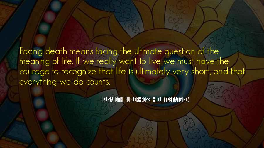 Quotes About Meaning Of Life And Death #1159942