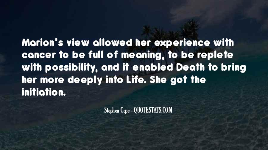 Quotes About Meaning Of Life And Death #1232291