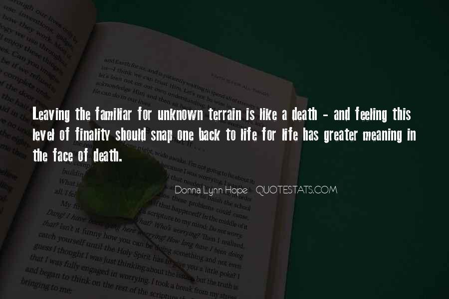 Quotes About Meaning Of Life And Death #1826703