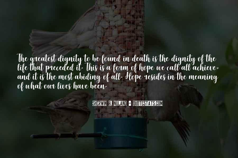 Quotes About Meaning Of Life And Death #765033